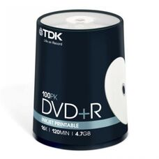 Диск DVD+R TDK Cake Box Printable (t19920); 4.7 ГБ; 16x; 100 шт.; (цена за 1 шт.), steelsmart, в Донецке, Макеевке, Горловке, ДНР, ЛНР