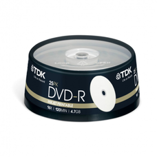 Диск DVD-R TDK Cake Box Printable (t19838); 4.7 ГБ; 16x; 25 шт.; (цена за 1 шт.), steelsmart, в Донецке, Макеевке, Горловке, ДНР, ЛНР